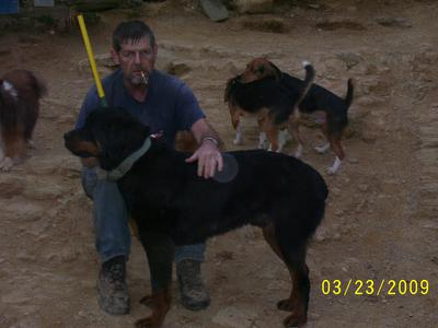 Marcus with Mike and the beagles