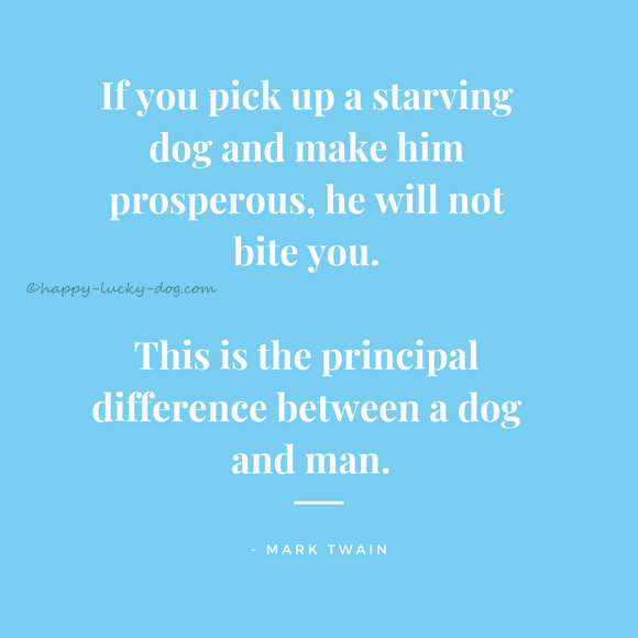 Mark Twain's quotation about men and dogs